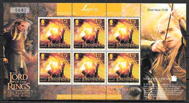 filatelia colección cine Isla de Man 2003
