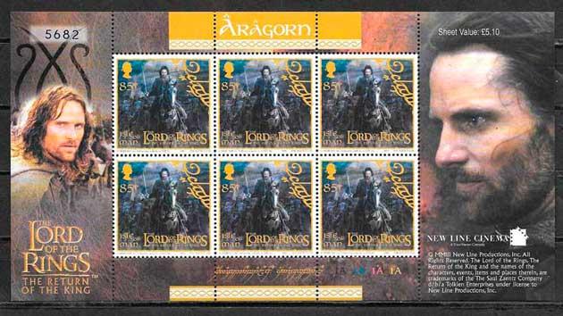 colección sellos cine Isla de Man 2003