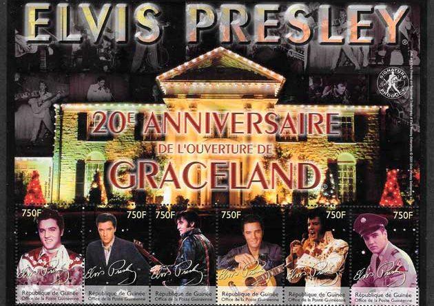 colección sellos cine Elvis Presley Gunea 2002