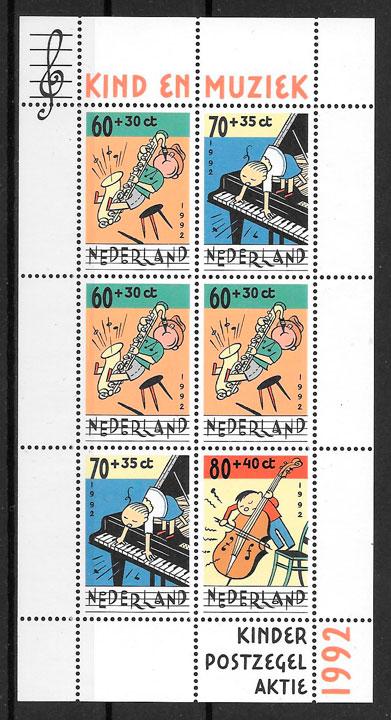 filatelia cómic Holanda 1992