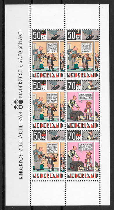 sellos cómic Holanda 1984