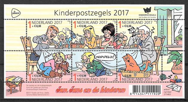 sellos cómic Holanda 2017