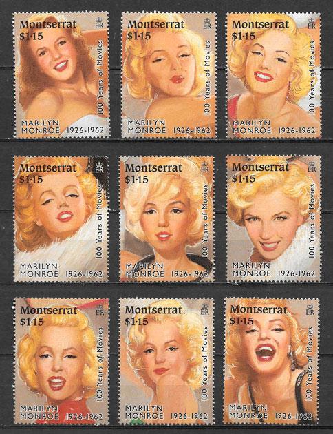 sellos Marilin Monroe Montserrat 1995