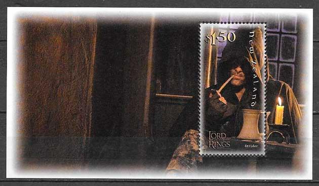 filatelia colección cine Nueva Zelanda 2001