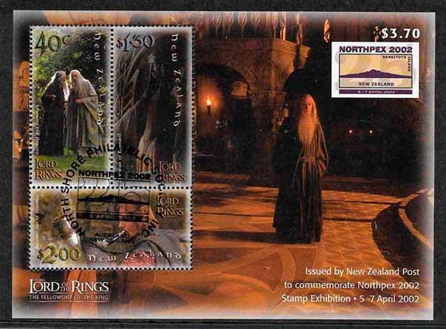 colección sellos cine Nueva Zelanda 2002 2002