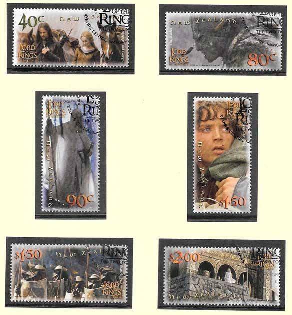 colección sellos cine Nueva Zelanda 2002