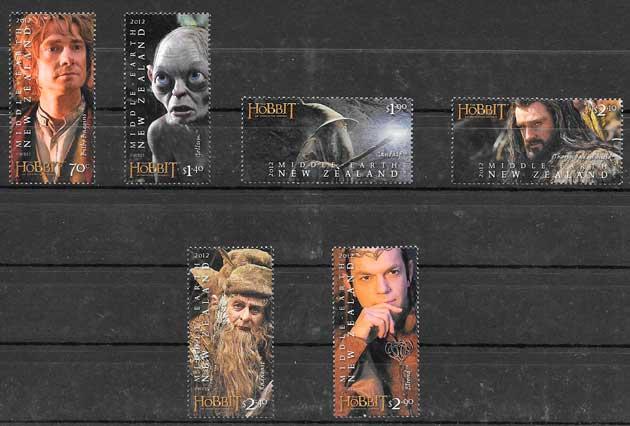 colección sellos cine Nueva Zelanda 2012