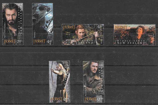 colección sellos cine Nueva Zelanda 2013