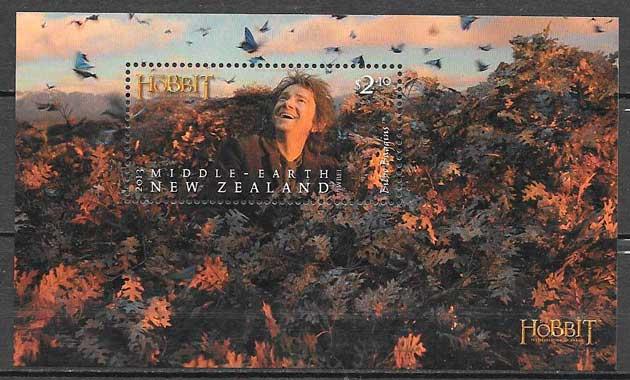 filatelia colección cine 2013 Nueva Zelanda