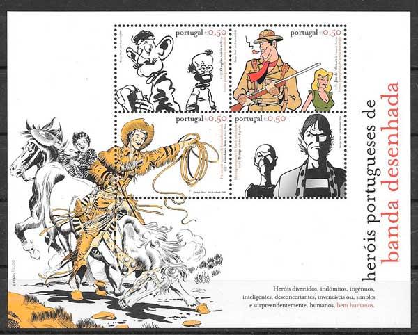 filatelia comic Portugal 2004