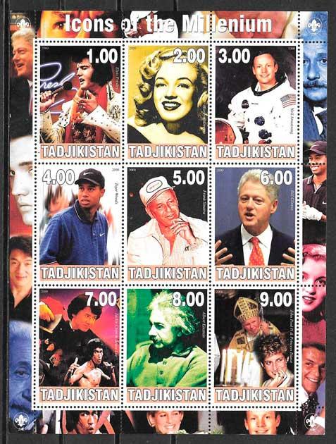 colección sellos cine Tadjikistán 2000
