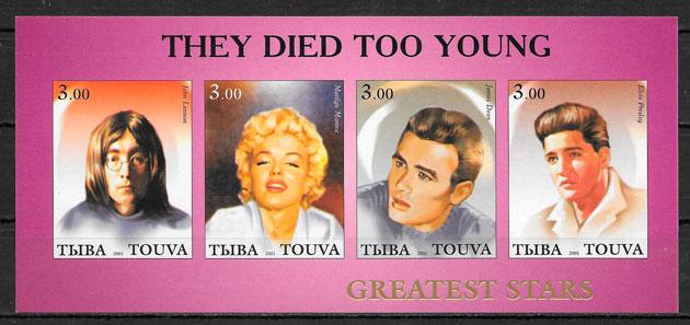 colección sellos Marilyn Monroe Touva 2001