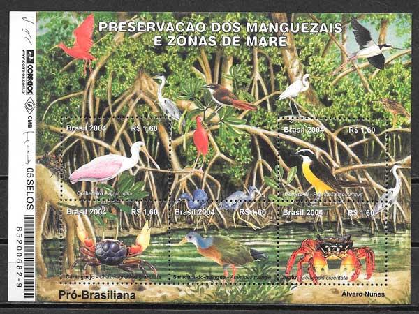 filatelia colección UPAEP Brasil 2004