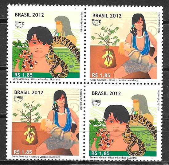 sellos UPAEP Brasil 2012