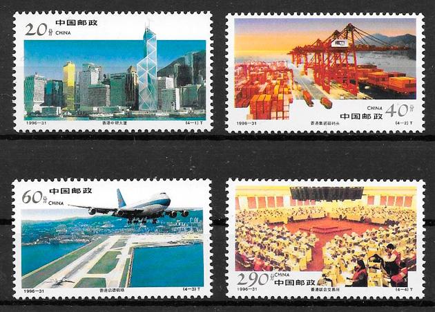 colección sellos sellos China 1996