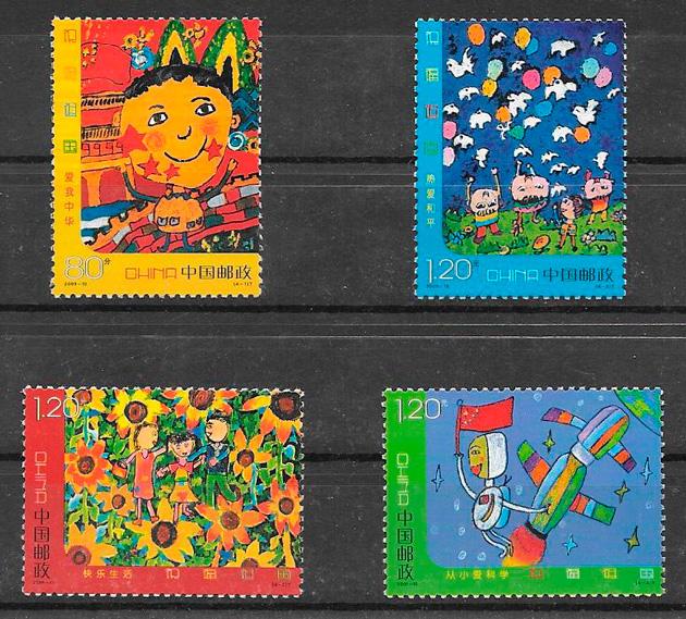 filatelia colección sellos de China 2009