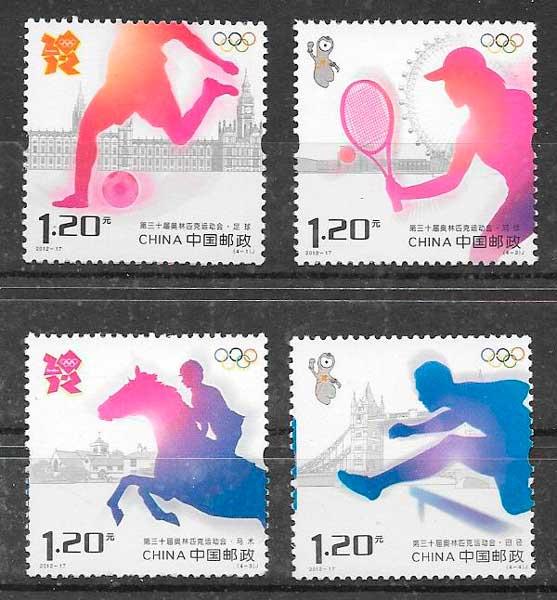 sellos deporte China 2012