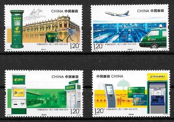 filatelia colección temas varios China 2016