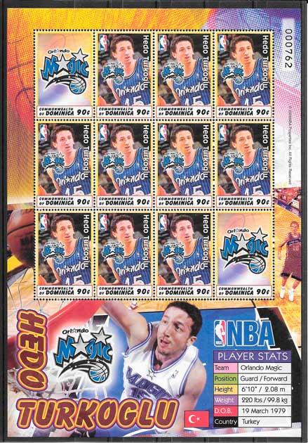 sellos colección NBA Dominica 2006