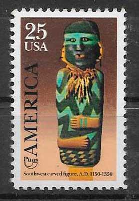 filatelia colección UPAEP EE:UU 1989