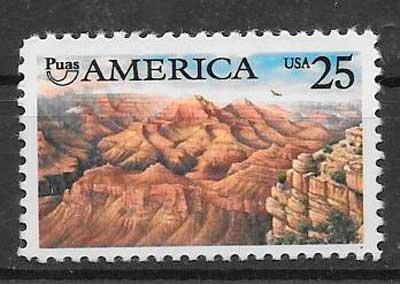 sellos UPAEP USA 1990