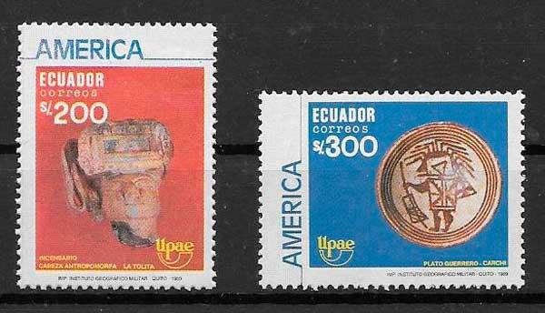 filatelia colección UPAEP Ecuador 1990