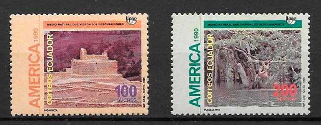 colección sellos UPAEP Ecuador 1991