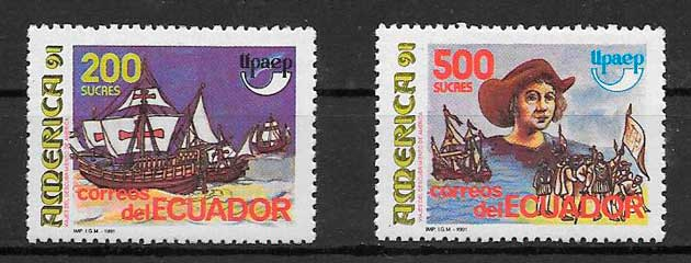 sellos UPAEP Ecuador 1991