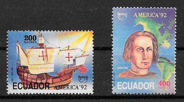 filatelia UPAEP 1992 Ecuador