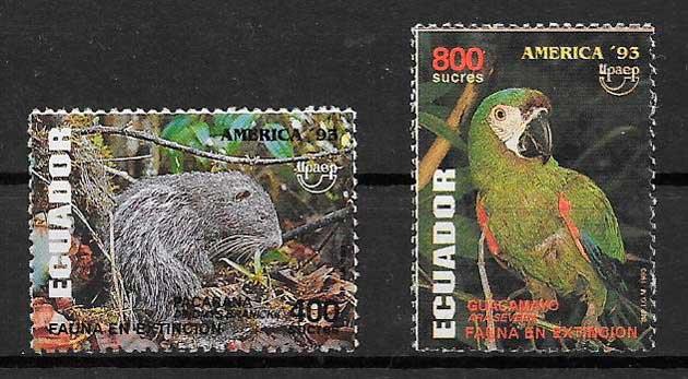 filatelia UPAEP Ecuador 1993