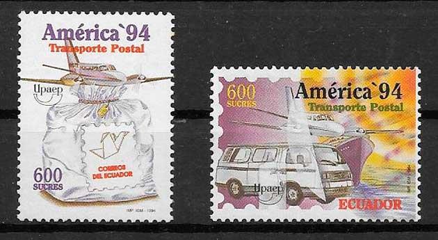 colección sellos UPAEP Ecuador 1994