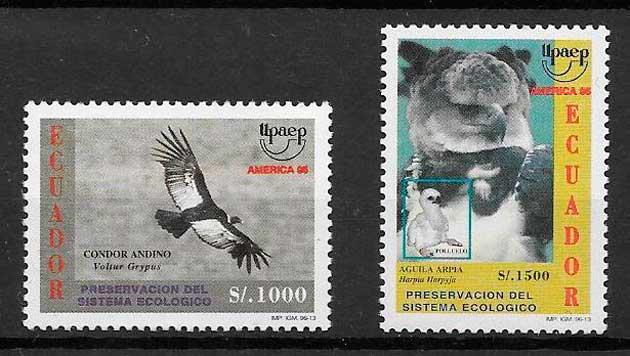 colección sellos UPAEP Ecuador 1996