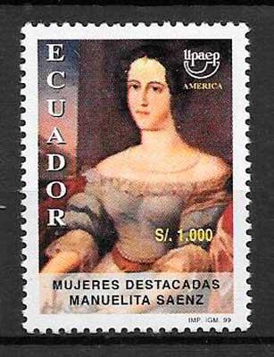 sellos UPAEP Ecuador 1999