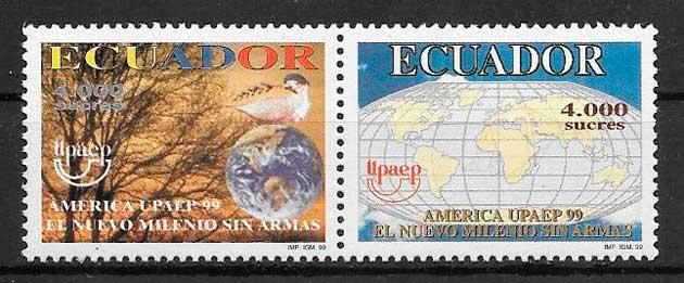 filatelia UPAEP Ecuador 1999