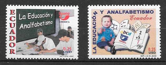 filatelia colección UPAEP Ecuador 2002