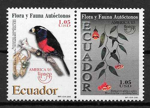 filatelia colección UPAEP Ecuador 2003
