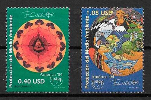 filatelia UPAEP Ecuador 2004