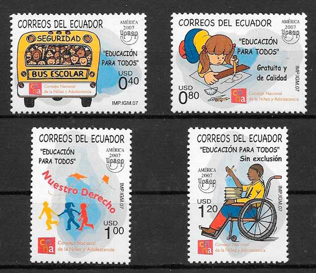 sellos UPAEP Ecuador 2007