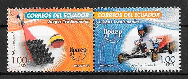 colección sellos UPAEP Ecuador 2009