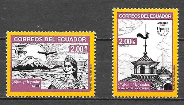 Colección sellos UPAEP Ecuador 2012