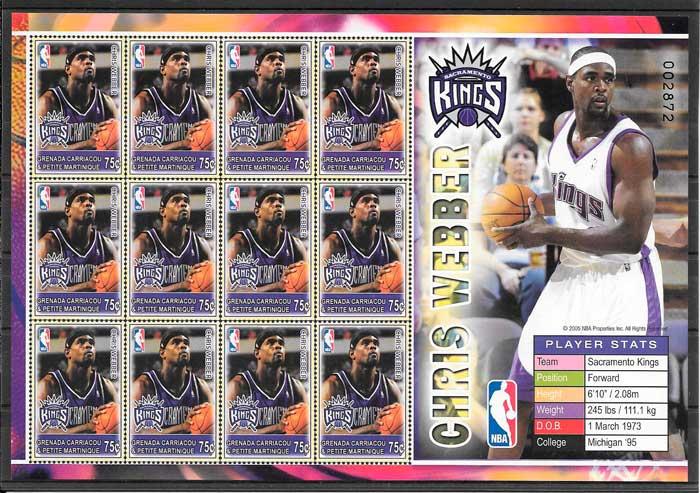 sellos NBA Grenadines 2005