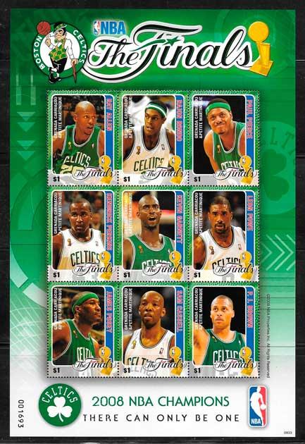 sellos NBA Grenadines 2008