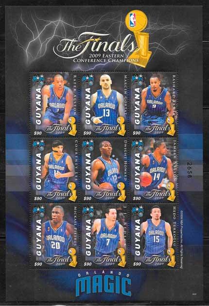 sellos NBA 2009 Guyana
