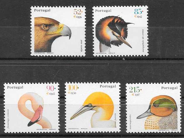 sellos fauna Portugal 2000