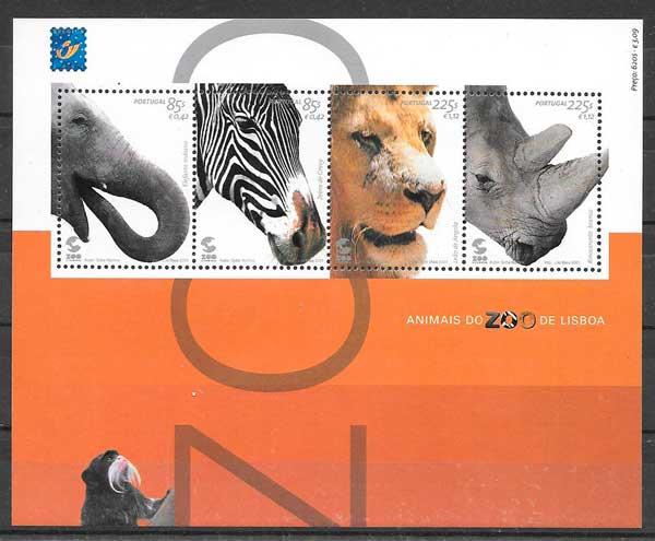 filatelia colección fauna Portugal 2001