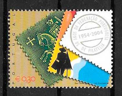 filatelia aniversarios Portugal 2004