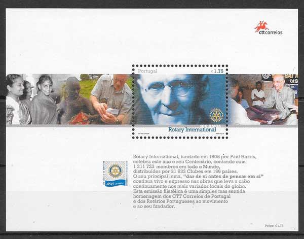 sellos aniversarios Portugal 2005