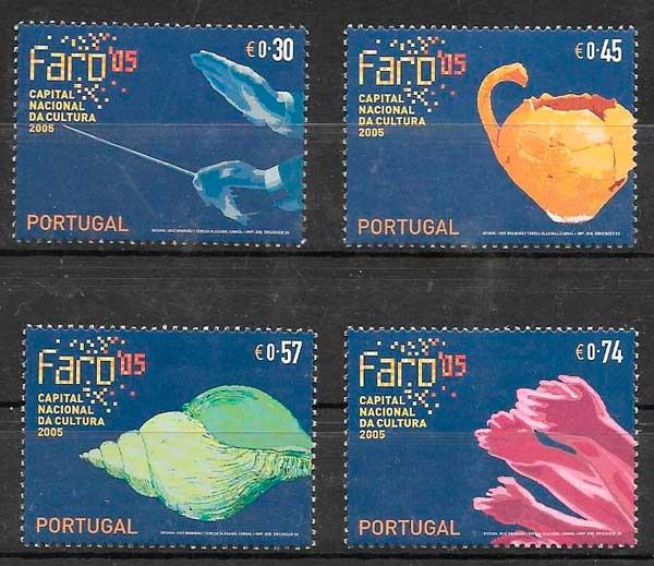 filatelia colección arte Portugal 2005