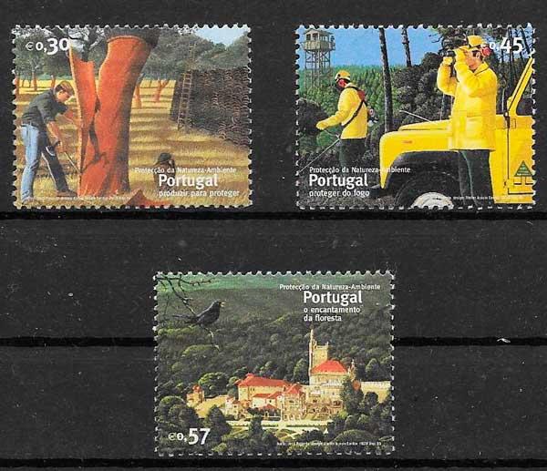 colección sellos protección naturaleza Portugal