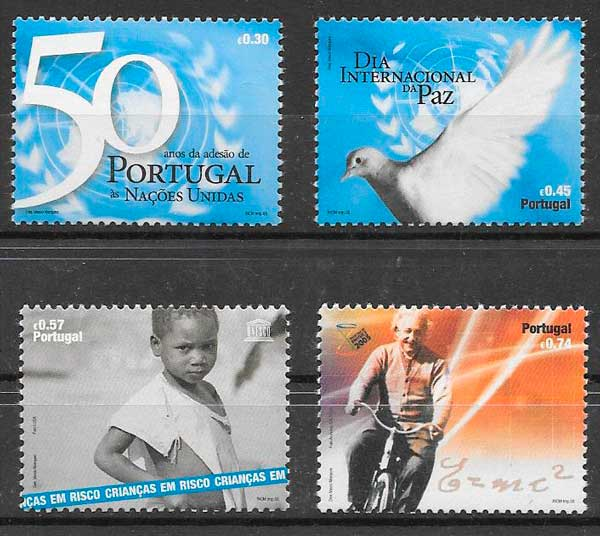 colección sellos adhesión Naciones Unidas Portugal 2005
